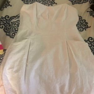 Lilly Pulitzer white strapless dress size 14